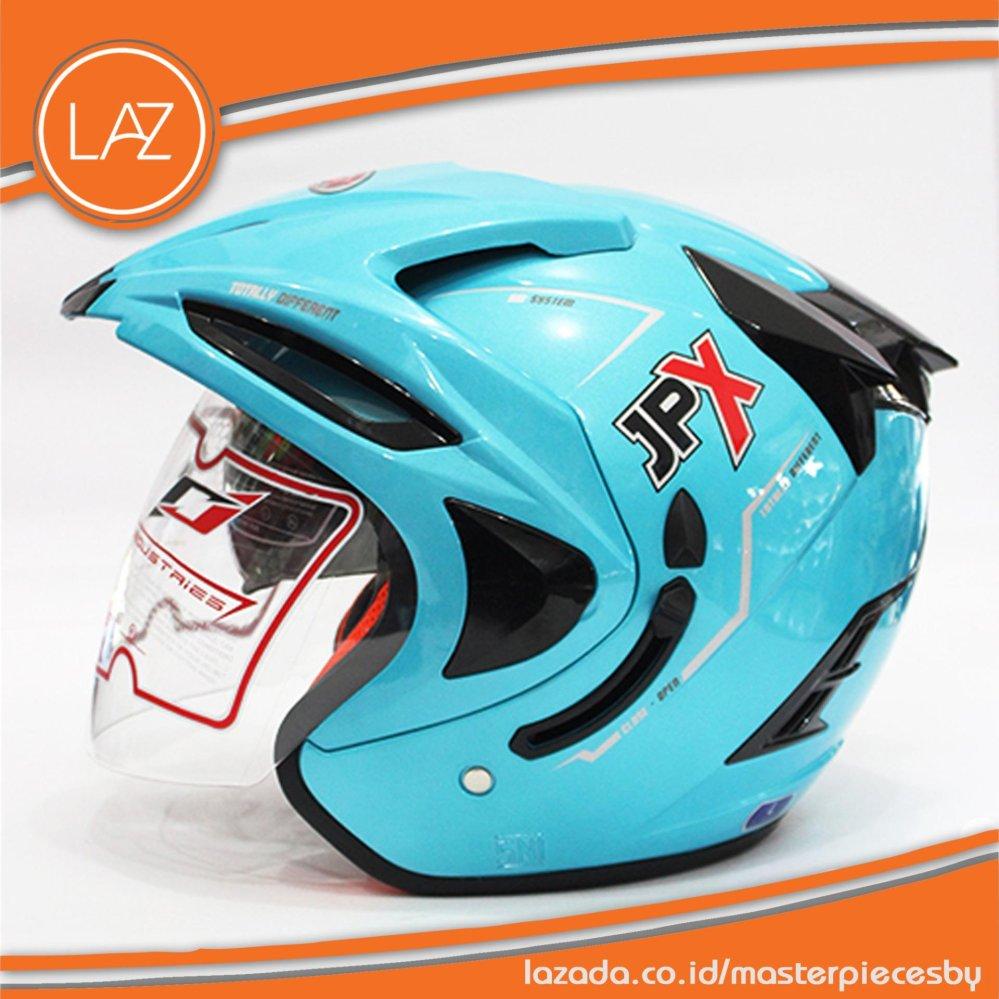 Harga Helm Jpx Supreme Original Biru Muda Blue Ice Yang Murah Dan Bagus